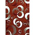 Generations Rust Abstract Circle Rug (7'9 x 10'5)