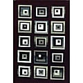 Generations Blocks Burgundy Rug (7'9 x 10'5)
