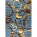Generations Blue Elliptic Rug (7'9 x 10'5)
