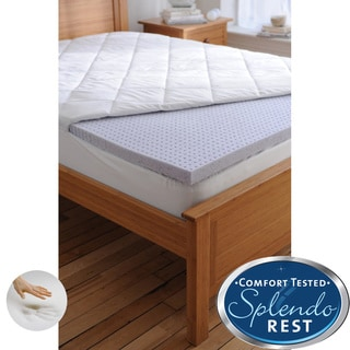 Splendorest TheraGel 2-inch Gel Memory Foam Mattress Topper with Bonus Cover