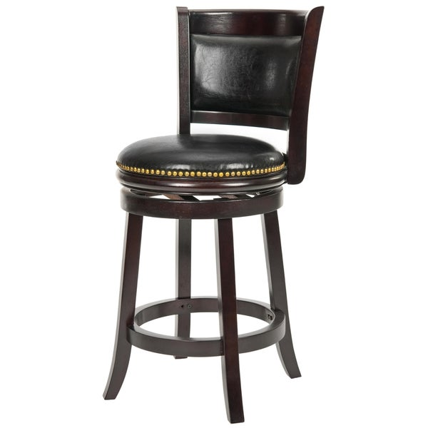 Safavieh Ulster Cappuccino Finish 24-inch Swivel Counter Stool