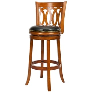 Safavieh Ulster Dark Oak Finish Swivel 29-inch Bar Stool