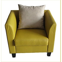 Yuki Kid's Yellow Faux Leather Oversized Pub Chair
