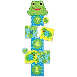Melissa & Doug Froggy Right-piece Jigsaw-foam Hopscotch Lawn Game