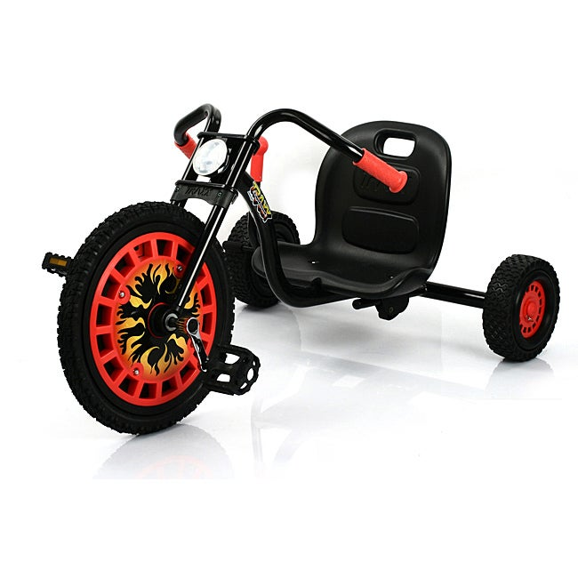 Traxx Typhoon Black-and-red Three-wheeler with High-torque Pedals