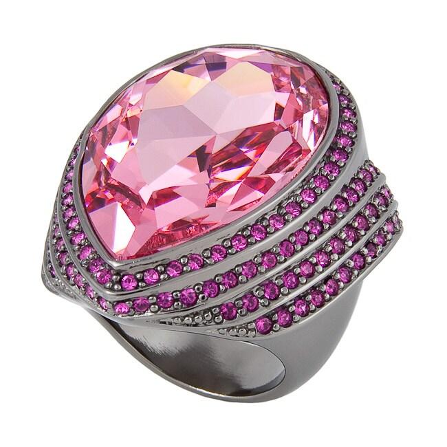 Michelle Monroe Tungsten Pink Crystal Ring
