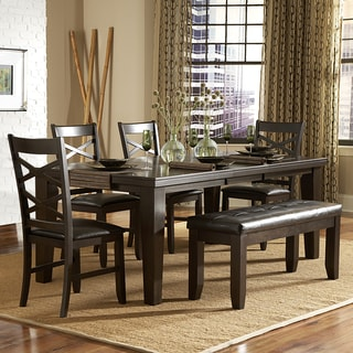 Tribecca Home Callington Rich Espresso X Back Mission 6-piece Dining Set