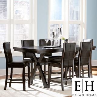ETHAN HOME Dartford Espresso 7-piece Contoured Counter Set