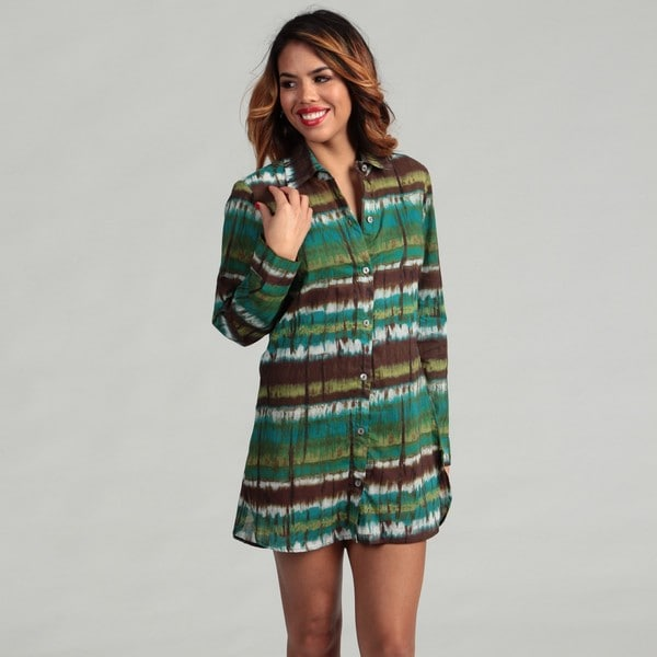 Tommy Bahama Women's Green/ Brown Swim Cover-up