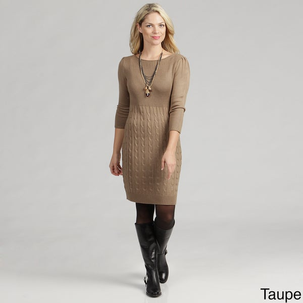 Calvin Klein Women's Cable Knit Sweater Dress