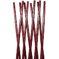 Laura Ashley 78-inch Tall Burgundy Bamboo Poles (10 Poles)