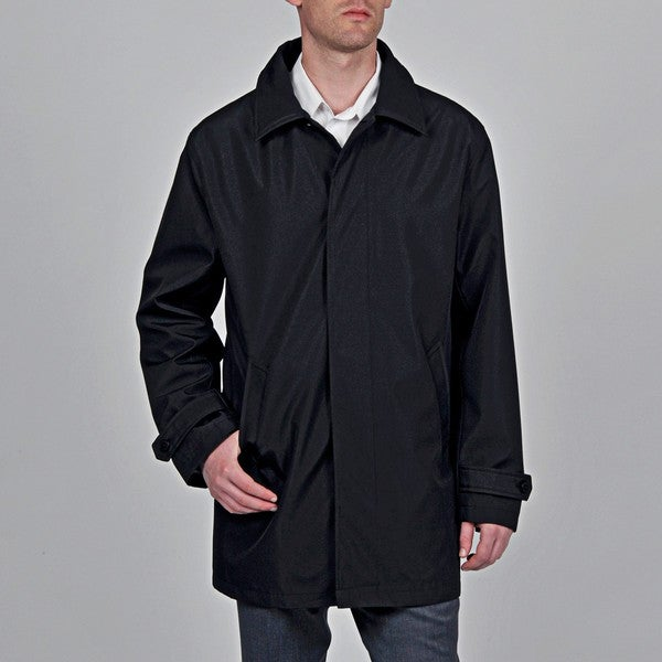 Geoffrey Beene Men's 'Bailey' Black Trench Coat