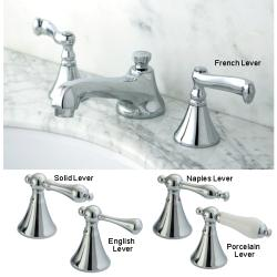Chrome Widespread Centerset Bathroom Faucet