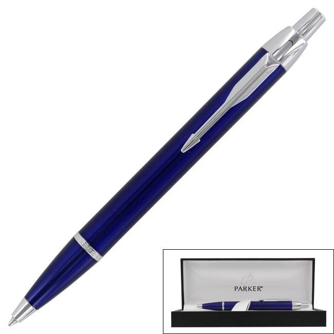 Parker IM Refillable Royal-blue Ballpoint Pen with Chrome Trim