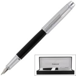 Parker IM Premium Custom Black Chrome Medium Nib Fountain Pen