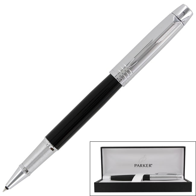 Parker IM Premium Custom Black Chrome CT Fine Point Rollerball Pen