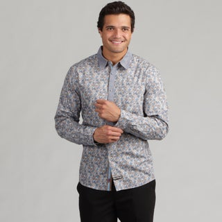 English Laundry Men's Small Floral Print Woven Shirt FINAL SALE