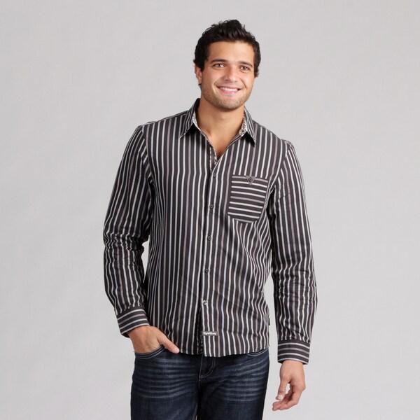 English Laundry Men's Stripe Woven Shirt