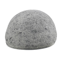 Ferrecci Men's Light Gray Wool Driver's Cap