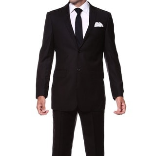 Ferrecci Men's Slim Fit 2-piece Black Suit