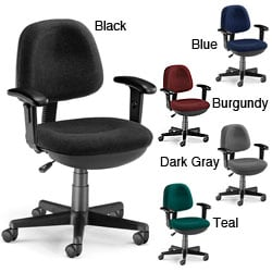 OFM Stain-resistant Lite-use Computer Task Chair with Adjustable Arms