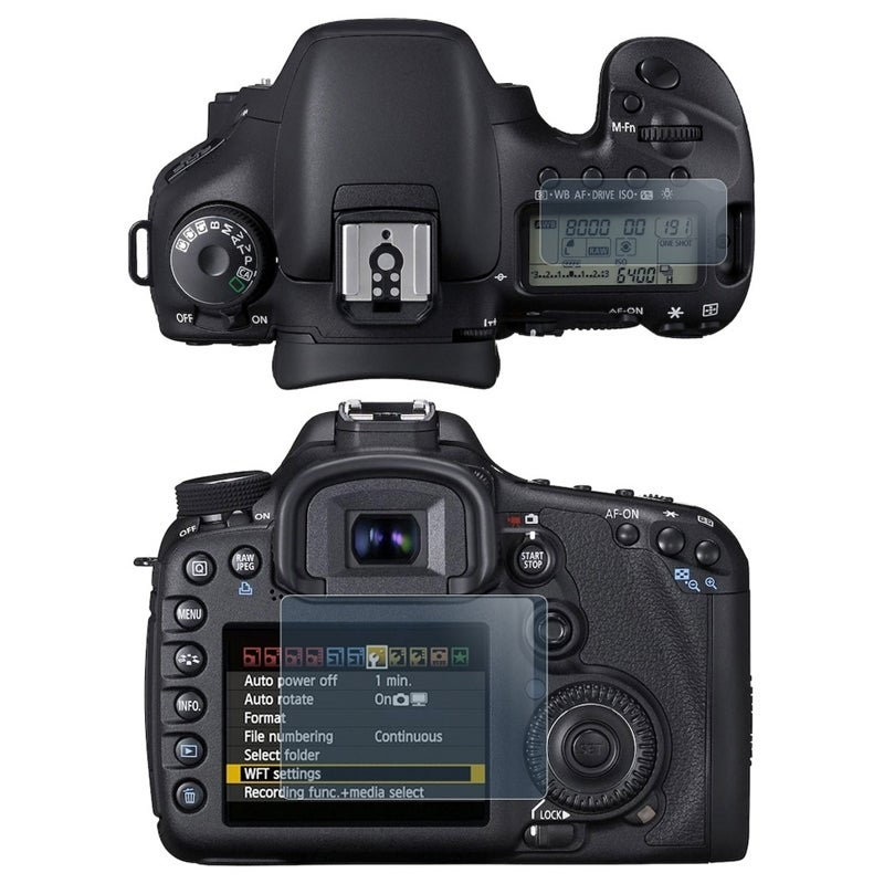 INSTEN Clear Screen Protector for Canon EOS 7D (2-LCD Kit)