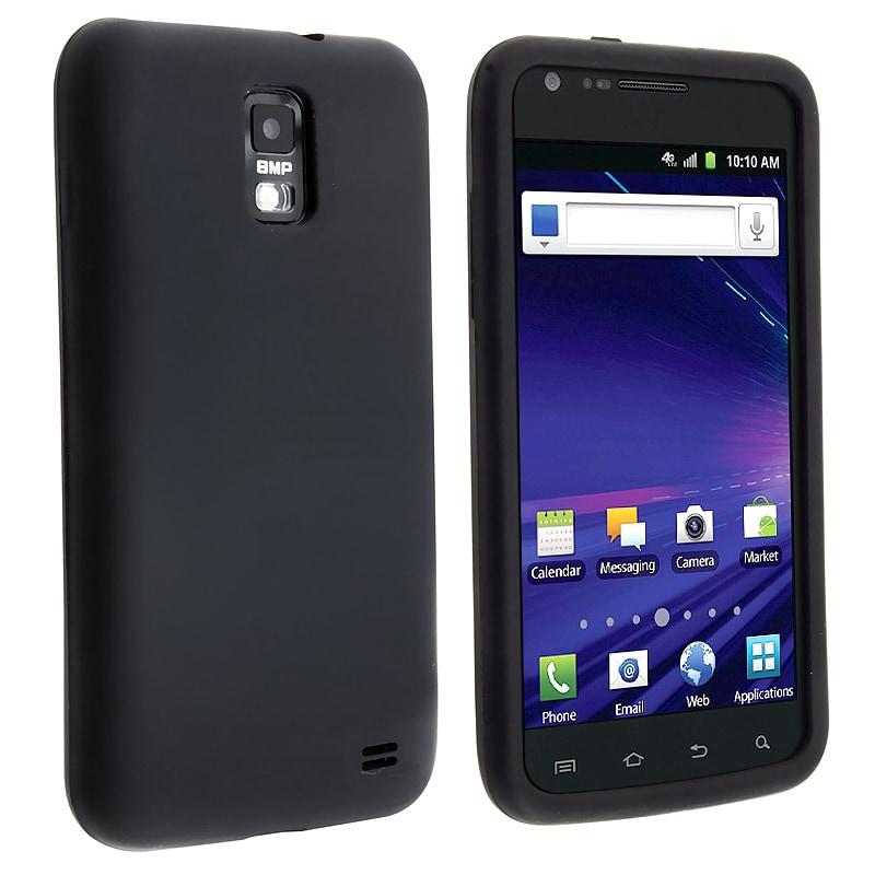 INSTEN Black Soft Silicone Skin Phone Case Cover for Samsung Skyrocket i727