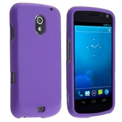 BasAcc Purple Snap-on Rubber Coated Case for Samsung Galaxy Nexus i515