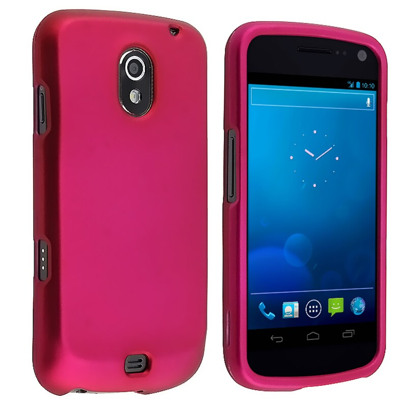BasAcc Hot Pink Rubber Coated Case for Samsung Galaxy Nexus i515