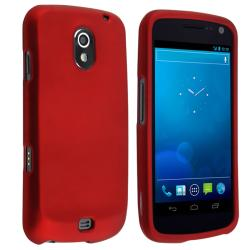 BasAcc Red Snap-on Rubber Coated Case for Samsung Galaxy Nexus i515