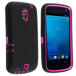 BasAcc Hot Pink/ Black Hybrid Case for Samsung Galaxy Nexus i515