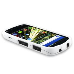 BasAcc White Snap-on Rubber Coated Case for Samsung SCH-i510/ i520
