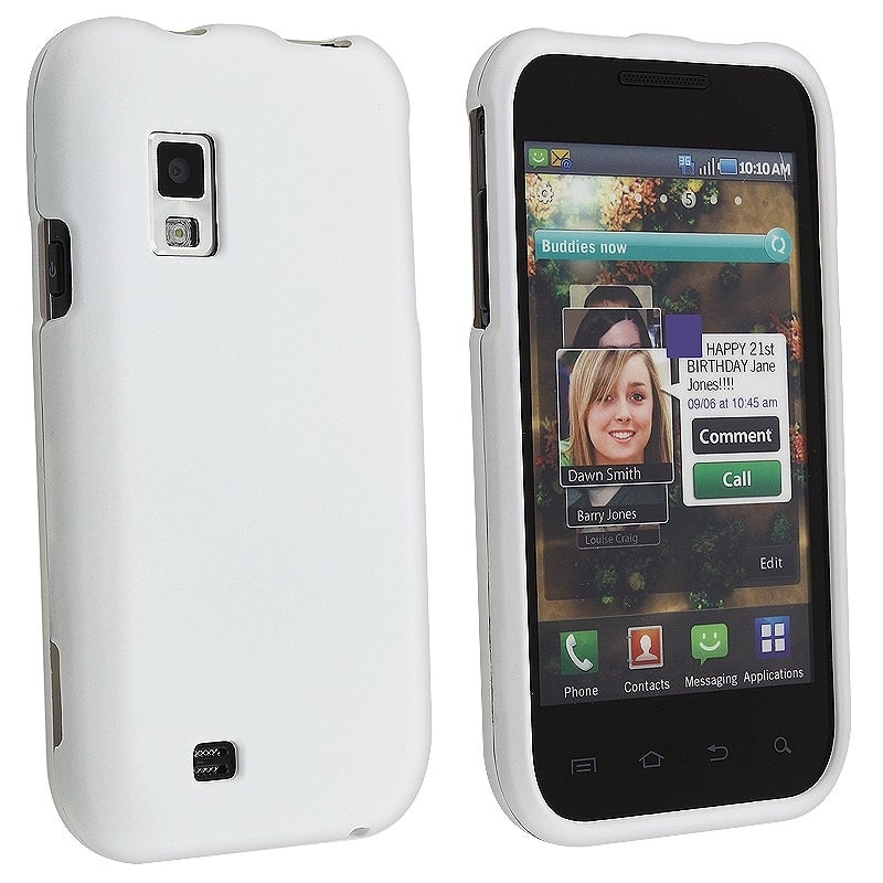 BasAcc White Snap-on Rubber Coated Case for Samsung Fascinate i500