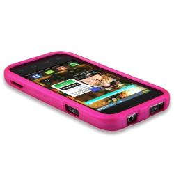 BasAcc Hot Pink Snap-on Rubber Coated Case for Samsung Fascinate i500