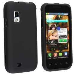 BasAcc Black Snap-on Rubber Coated Case for Samsung Fascinate i500