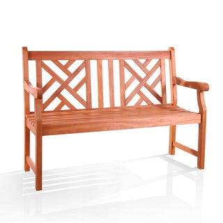Atlantic 2-seater Eucalyptus Wood Outdoor Bench