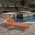 Eucalyptus Wood Outdoor Single Chaise Lounge