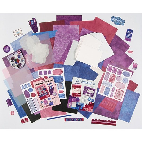 Jewel Cardmaking Kit with Die-cuts and Flower Embellishments