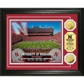 University of Nebraska Stadium 24-karat Gold Coin Photo Mint