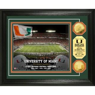 University of Miami Stadium 24-karat Gold Coin Photo Mint