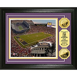 Louisiana State University Stadium 24-karat Gold Coin Photo Mint