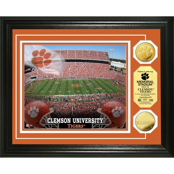 Clemson University Stadium 24-karat Gold Coin Photo Mint