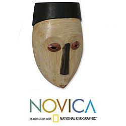 Sese Wood 'Virgin Forest' African Mask (Ghana)