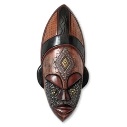 Sese Wood 'Dan Beauty' African Mask (Ghana)