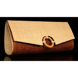 Handcrafted Buriti Palm 'Jussara' Clutch Handbag (Brazil)