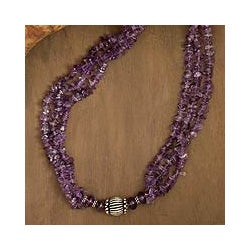 Amethyst 'Purple Goddess' Strand Necklace (India)