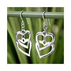 Sterling Silver 'Forever Love' Earrings (Thailand)