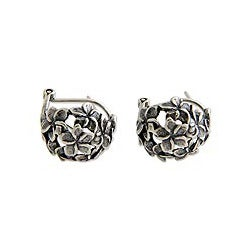 Sterling Silver 'Balinese Geraniums' Earrings (Indonesia)
