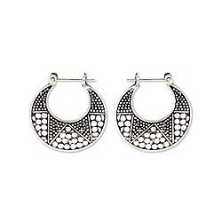 Sterling Silver 'Balinese Crescent Moon' Earrings (Indonesia)