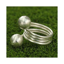 Sterling Silver 'Chiang Rai Rivers' Ring Thailand)